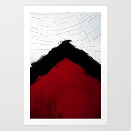 BLOOD RED RIBBON Art Print