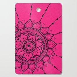 Black and Pink Mandala Cutting Board