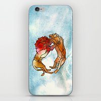 lions iPhone & iPod Skins featuring Lions by madbiffymorghulis