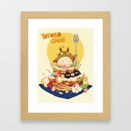 Ghibli Cake! Framed Art Print