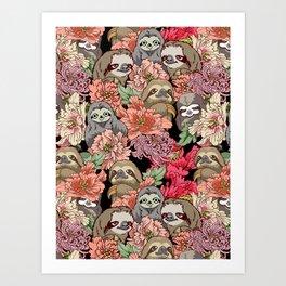 Because Sloths Art Print