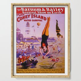 Vintage Coney Island Water Carnival Serving Tray