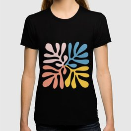 colorful contemporary abstract leaf cutoff inspired  T-shirt