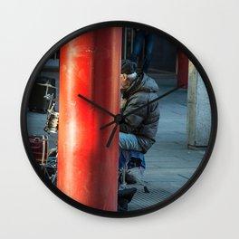 Milano Street musician Wall Clock