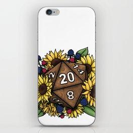 Sunflower D20 Tabletop RPG Gaming Dice iPhone Skin