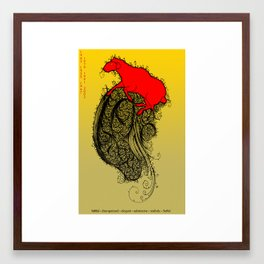 Chinese Zodiac Sheep Framed Art Print
