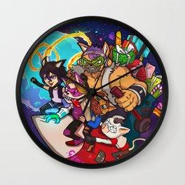 Gatetemon Salva la Navidad Wall Clock