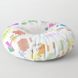 Enneagram Affirmations Floor Pillow