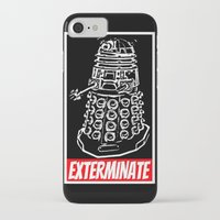 dr who iPhone & iPod Cases featuring EXTERMINATE  |  Dalek  |  Dr. Who by Silvio Ledbetter