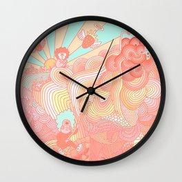 Cotton Candy Cyclops Dream: Peach (2 of 4) Wall Clock
