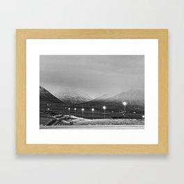 Varmahlíð Framed Art Print