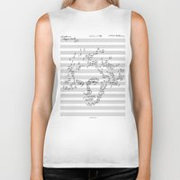 beethoven Biker Tanks featuring Beethoven by bananabread