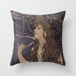 Alfonse Mucha HF5 Throw Pillow