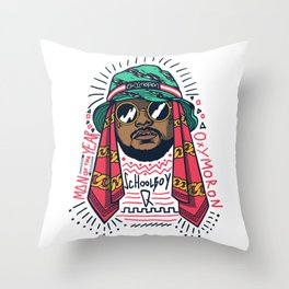 SchoolboyQ Throw Pillow