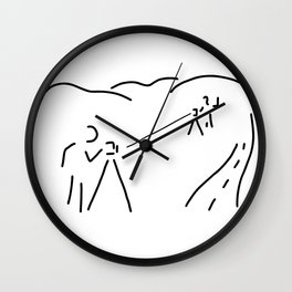 measurement engineer cartographer geoinformation Wall Clock