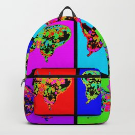 Psychedelic Butterflies Mosaic Backpack