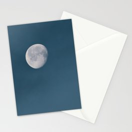 Blue Moon | Blue Hour | Mystical Moon in Clouds | Waning Gibbous | Waning Moon Stationery Cards