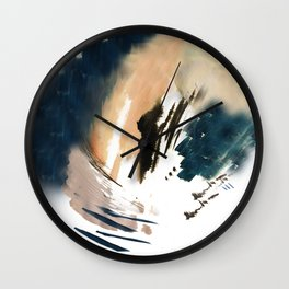 Twilight Wandering - a watercolor and ink abstract  Wall Clock