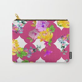 Bright florals with Pink Yarrow Carry-All Pouch