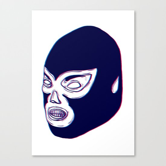 Lucha Libre Mask Canvas Print