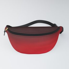 Red Ombré Block Design Fanny Pack