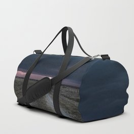 Darkness Falls - Lightning Strikes Down a Country Road at Night Duffle Bag