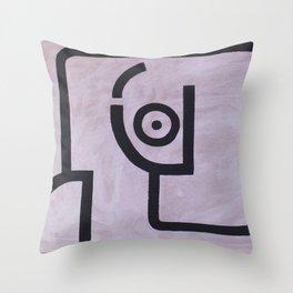 signo 13 negro Throw Pillow