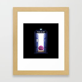 Tardis And Cute Monster Framed Art Print