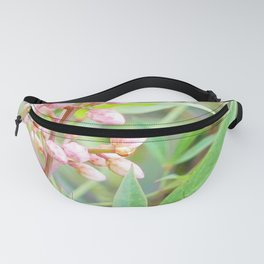 Pale Powder Pink Plant Fanny Pack