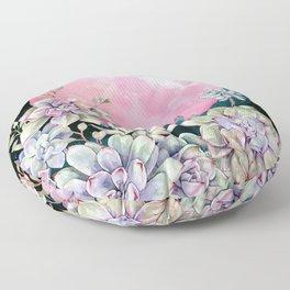 succulent full moon 3 Floor Pillow