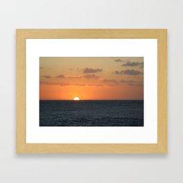 Sunset at Great Barrier Reef Framed Art Print