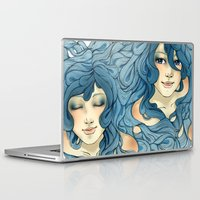 aqua Laptop & iPad Skins featuring Aqua by saravidigal