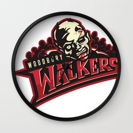 WoodBury Walkers red Wall Clock