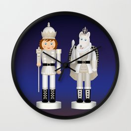 Toy King and Mouse King on Christmas Eve. Wall Clock