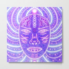 Electric Goddess Bloom Metal Print