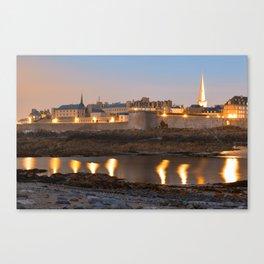 Saint Malo Twilight Canvas Print