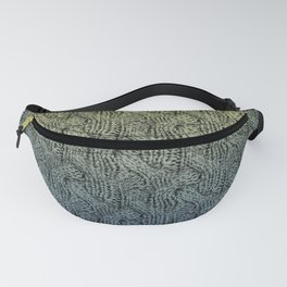 Woolen texture of cable knitting Fanny Pack
