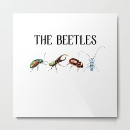 The Beetles Watercolor Metal Print