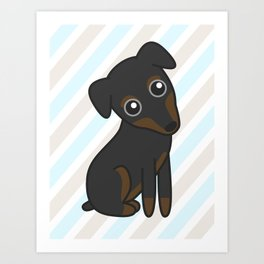Rylee the Min Pin Art Print