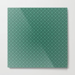 green, malachite, squares Metal Print