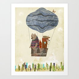 mr fox and bears wondrous adventure Art Print