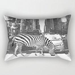Black and White Zebra in NYC Rectangular Pillow