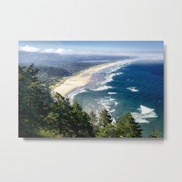 Coastline - Oregon Coast Metal Print