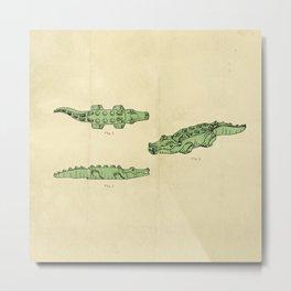 Lego Crocodile  Metal Print