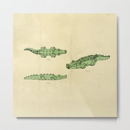 Lego Crocodile  Metal Print