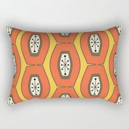 Midcentury Funky Chain Orange Rectangular Pillow