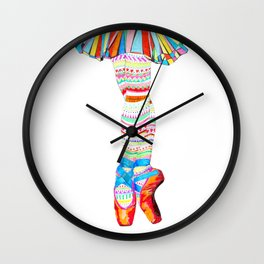Doodling Ballet Wall Clock