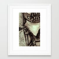bane Framed Art Prints featuring Bane by Christina Romano