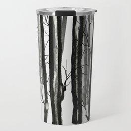 wood and snow Travel Mug