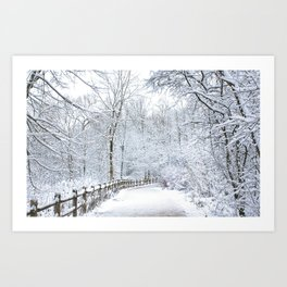 Snowfall at Brickworks on Christmas Day, 2020. LXXXI Art Print